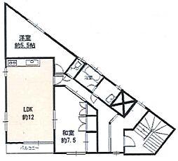 鎌ヶ谷ビル[3階号室]の間取り