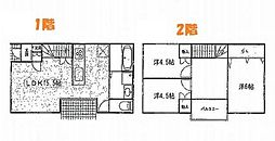 [一戸建] 兵庫県姫路市飾磨区高町2丁目 の賃貸【/】の間取り