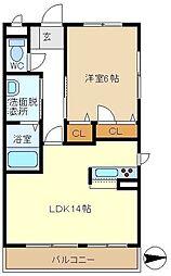 M STAGE BEREO 305[3階]の間取り