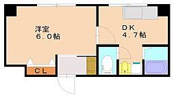 第一福徳ビル[5階]の間取り