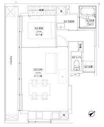 asu apartment[801号室号室]の間取り