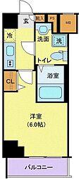 グランヴァン横濱南 3階1Kの間取り