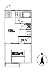 ドミール江古田[203号室]の間取り