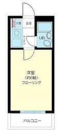 東京都練馬区上石神井2丁目の賃貸マンションの間取り