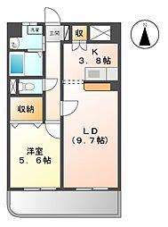 愛知県名古屋市西区十方町の賃貸マンションの間取り
