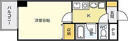 藤本ビルNo.21 中津口[303号室]の間取り