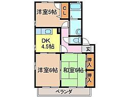 静岡県静岡市清水区由比阿僧の賃貸アパートの間取り