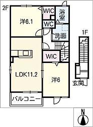 サニー・カーサII[2階]の間取り