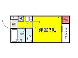 大阪府堺市堺区寺地町東2丁の賃貸マンションの間取り