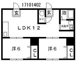 佐吉マンション[4階]の間取り