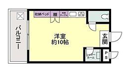 ポプリオンガーデン[2階]の間取り
