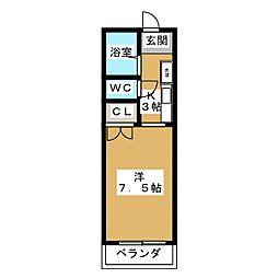 アーバン日野[2階]の間取り