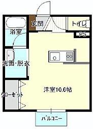 バス 遠鉄バスさいが崖下車 徒歩2分の賃貸アパート 1階ワンルームの間取り