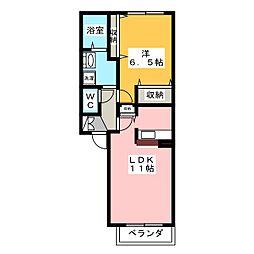 シャーメゾンプルミエ[2階]の間取り