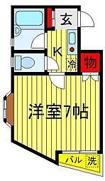 明原マンション森田[402号室]の間取り