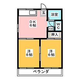 タウニイサンライズ[2階]の間取り