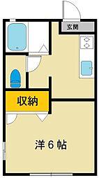 ソレーユ千城[1階]の間取り