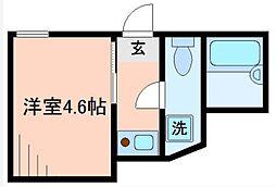 東京都中野区中央5丁目の賃貸アパートの間取り