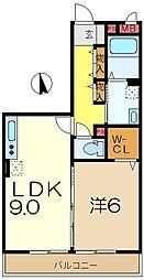 スカイヒル横濱六ッ川B棟[3階]の間取り