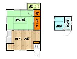 松山荘[101号室]の間取り