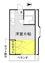 東京都練馬区春日町3丁目の賃貸アパートの間取り