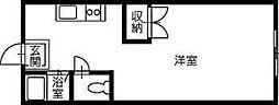 高知市朝倉己 賃貸マンション 1K 3階1Kの間取り