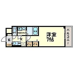 サムティ東難波ECLAT[11階]の間取り