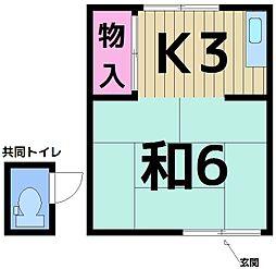 西山アパート[202号室]の間取り
