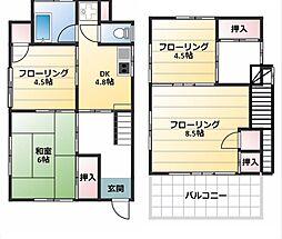 [一戸建] 神奈川県横須賀市大津町2丁目 の賃貸【/】の間取り