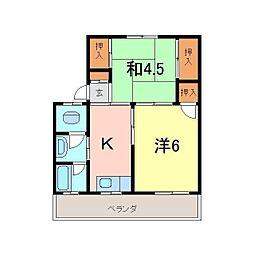 弘栄マンション[406号室]の間取り