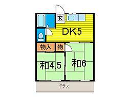 石井荘[1階]の間取り