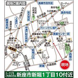 現地案内地図。