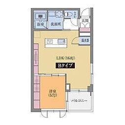グランドゥール覚王山[202号室]の間取り