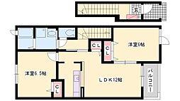 プラシード・カーサ[2階]の間取り