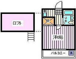 埼玉県さいたま市桜区大字田島の賃貸アパートの間取り