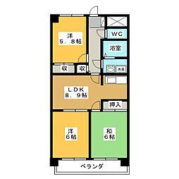 ANNEX M1[4階]の間取り