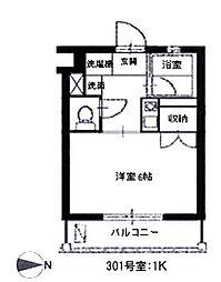 スカイパレス西新宿[301号室号室]の間取り