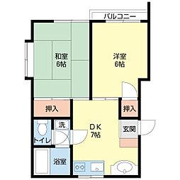 埼玉県さいたま市北区盆栽町の賃貸アパートの間取り