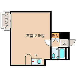 奈良県橿原市四条町の賃貸マンションの間取り