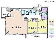 2LDK・専有面積75.62平米・バルコニー面積11.92平米