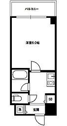 コート西中島[9階]の間取り