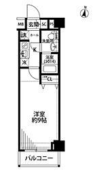 プレール・ドゥーク羽田WESTII  bt[205号室]の間取り