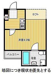 愛知県名古屋市千種区茶屋が坂1丁目の賃貸アパートの間取り