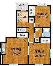 早田ハイツ[1階]の間取り