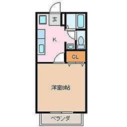 エスポアールA[1階]の間取り