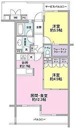 ホーフ横浜旭ヶ丘[3階]の間取り