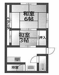 ハイツ洛風荘[17号室号室]の間取り