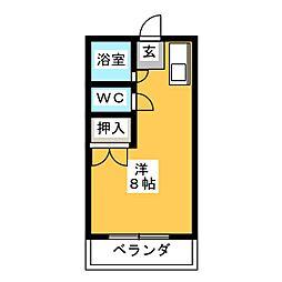 プレアール名古屋平針[4階]の間取り