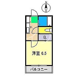 ハイム918[3階]の間取り
