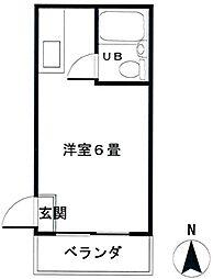 コーワマンション1階Fの間取り画像